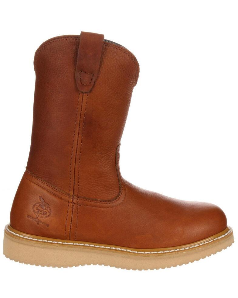 Georgia Boot Men's Wellington Barracuda Work Boots - Steel Toe, Brown, hi-res
