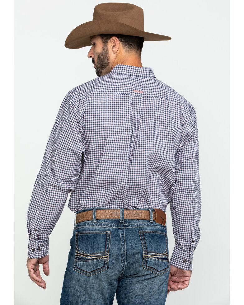 Ariat Men's Umber Stretch Multi Plaid Long Sleeve Western Shirt - Tall , Multi, hi-res