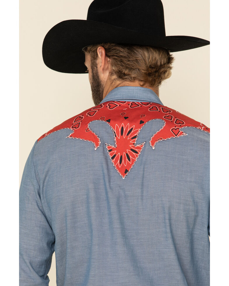 Hbarc Ranchwear Multi San Ysidro Long Sleeve Western Shirt , Multi, hi-res