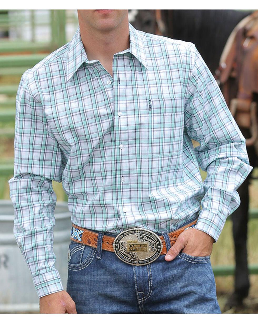 Cinch Men's Modern Fit Long Sleeve Button Shirt, Turquoise, hi-res