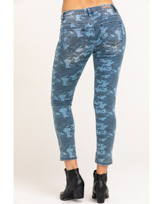 Miss Me Women's Camo Denim Jeans, Blue, hi-res