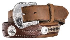 Tony Lama Duke Leather Belt, Aged Bark, hi-res