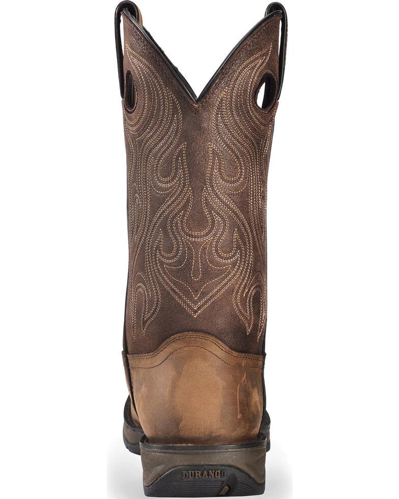 Durango Rebel Men's Brown Saddle Western Boots - Round Toe, Bark, hi-res