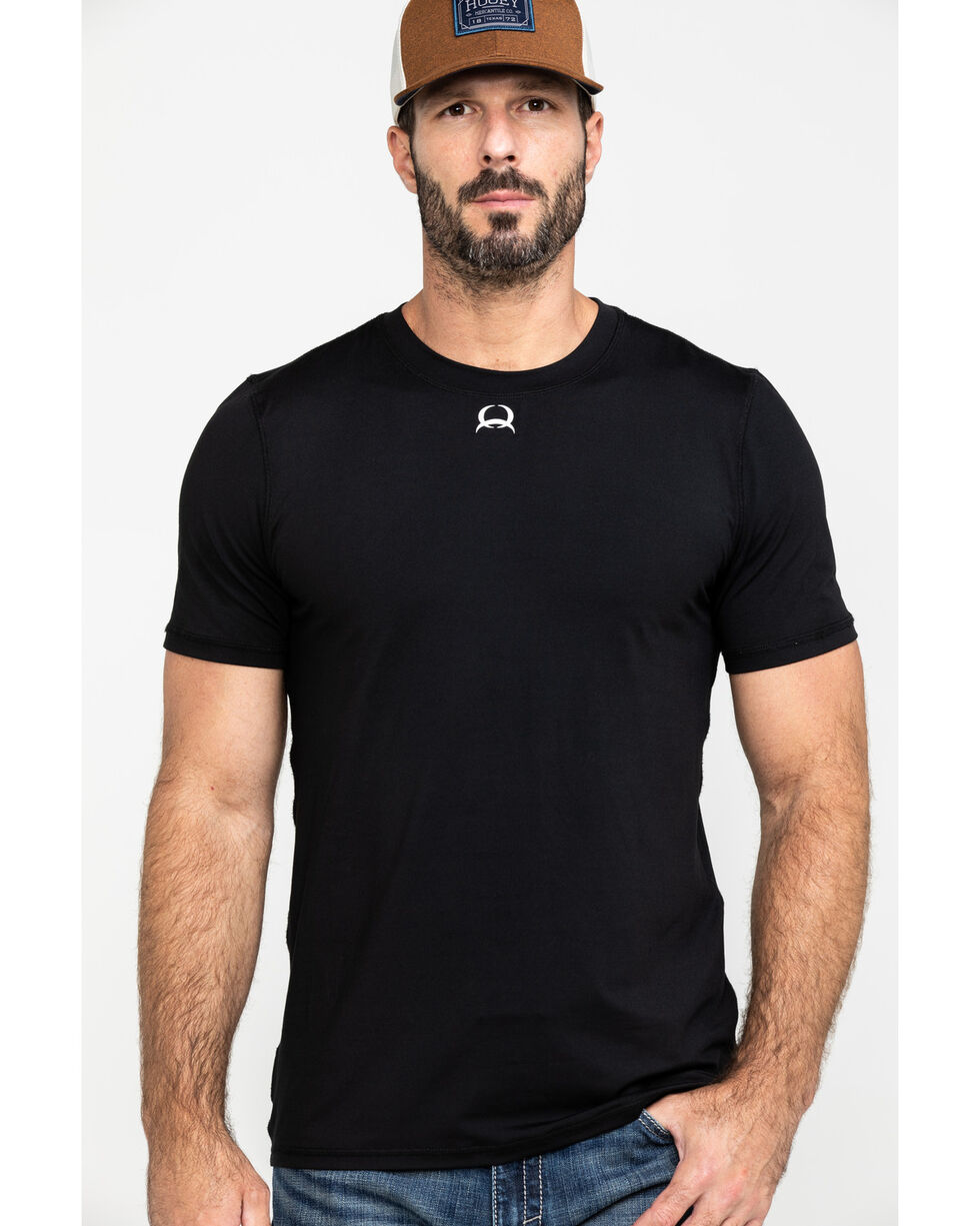 Cinch Men's Black Athletic Under Shirt, Black, hi-res