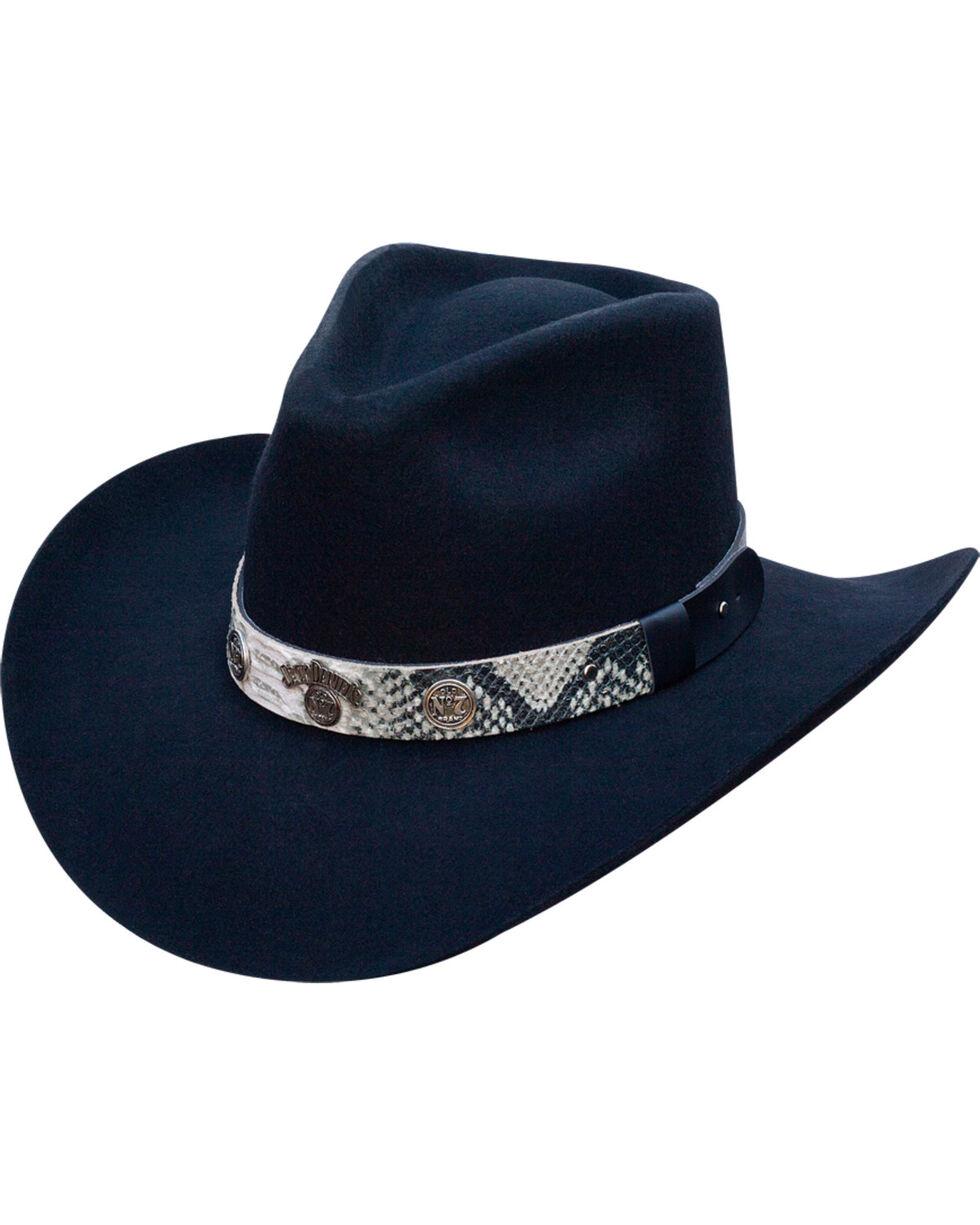 Jack Daniels Men's Structured Snake Print Wool Felt Hat , Black, hi-res