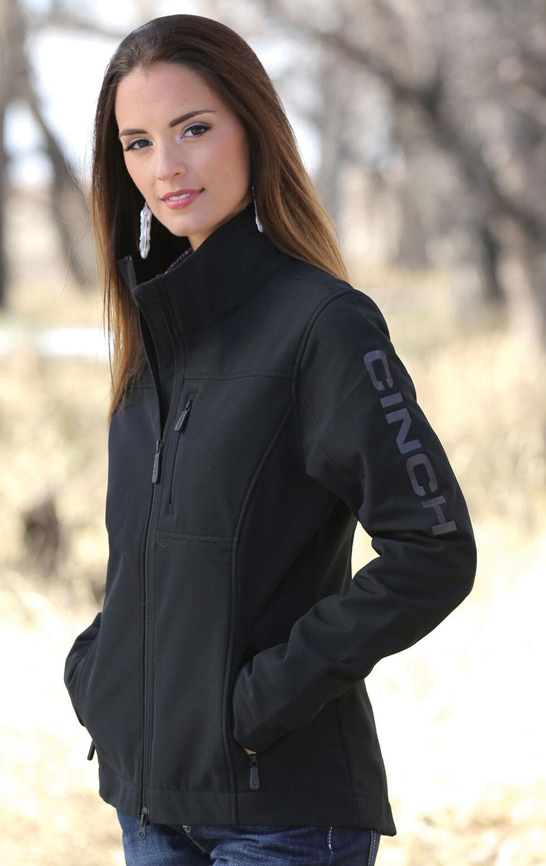 Cinch Women's Black Concealed Carry Bonded Jacket, Black, hi-res