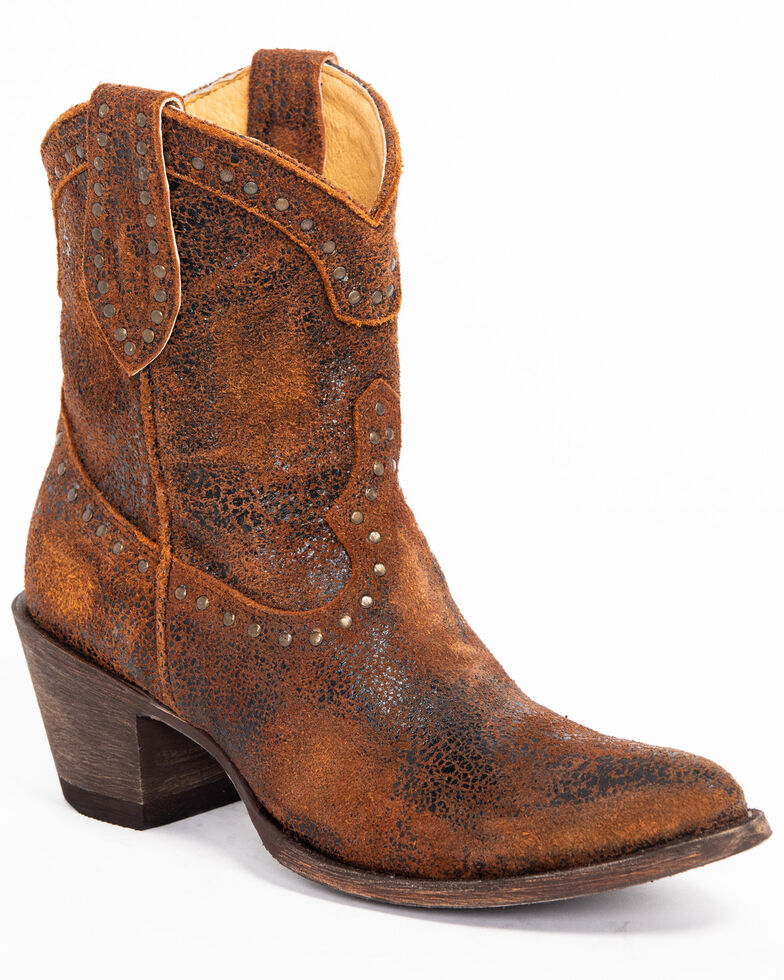 Idyllwind Women's Two Step Western Booties - Pointed Toe, Rust Copper, hi-res