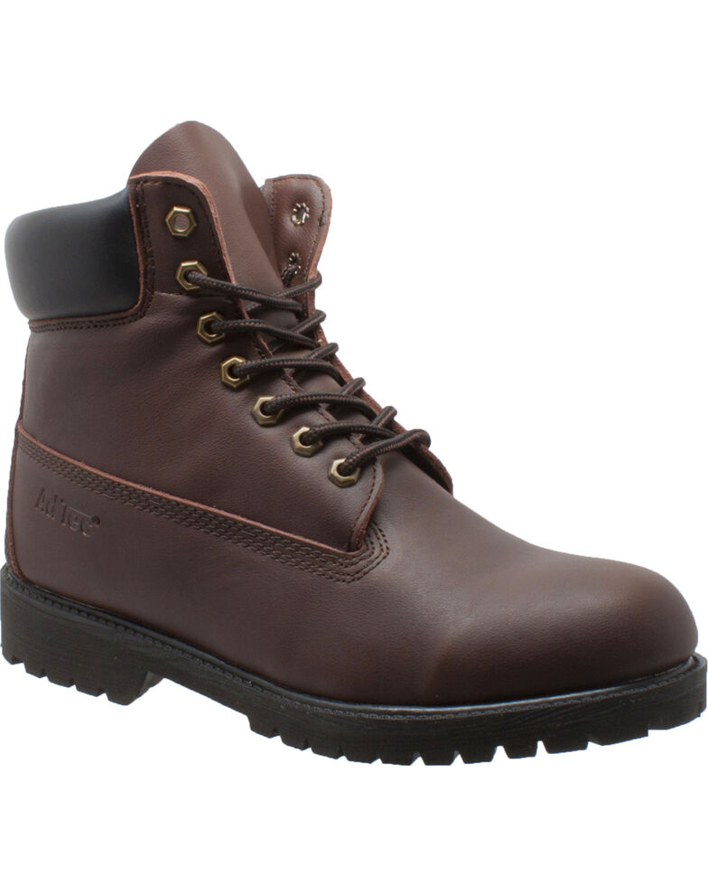 """Ad Tec Men's 6"""" Brown Leather Work Boots - Soft Toe, Brown, hi-res"""