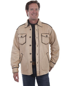 Scully Men's Faux Sherpa Lined Jacket, Tan, hi-res