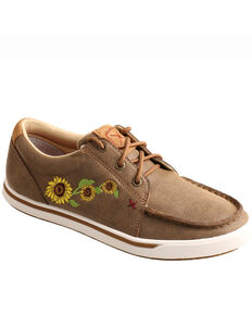 Twisted X Women's Sunflower Casual Shoes - Moc Toe, Brown, hi-res