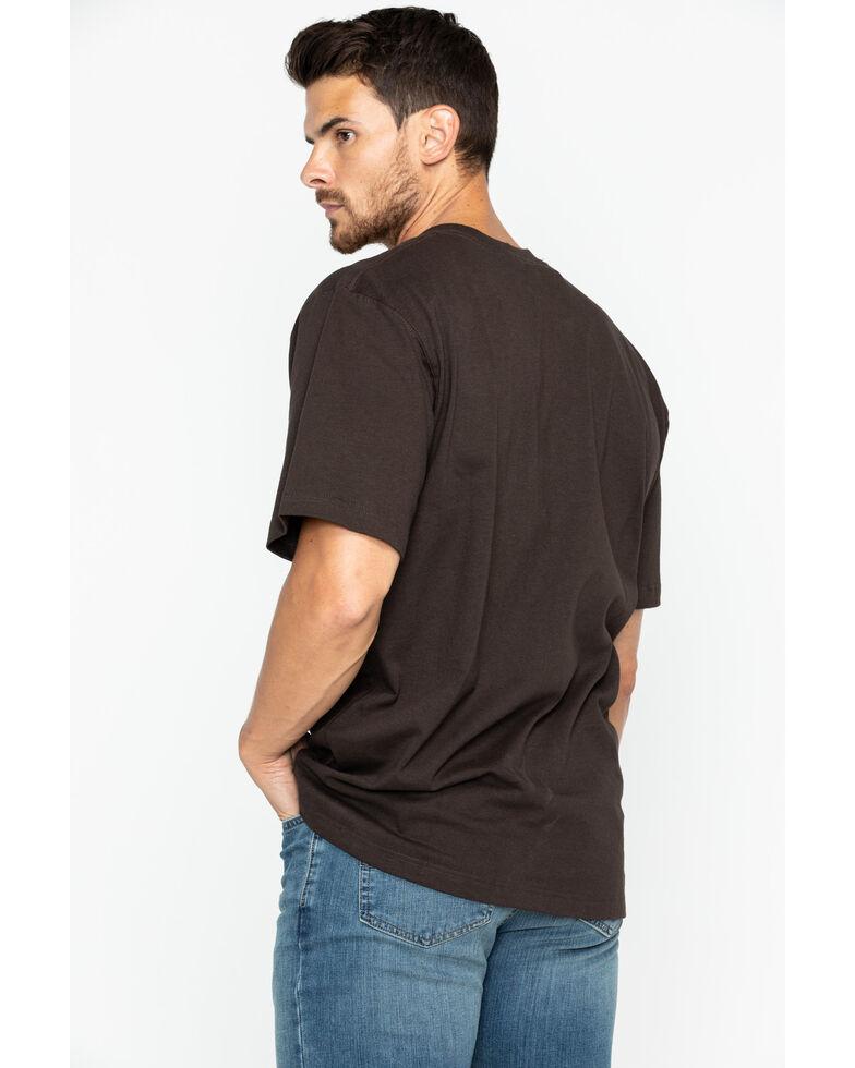 Carhartt Men's Solid Pocket Short Sleeve Work T-Shirt, Dark Brown, hi-res