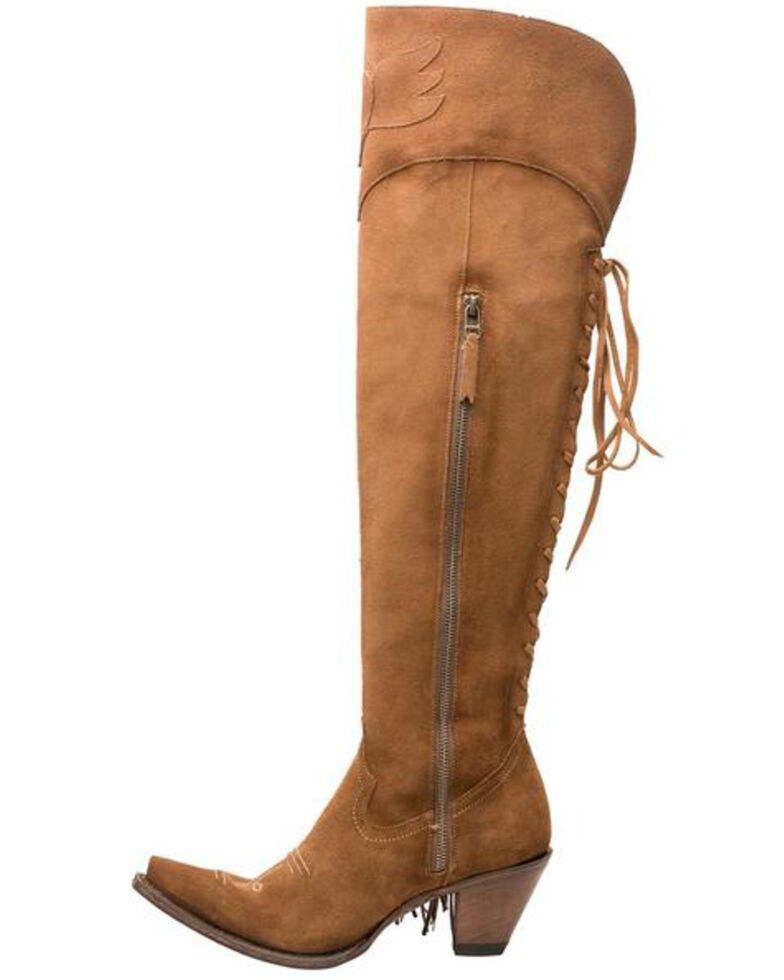 Lane Women's Spirit Animal In Suede Western Boots - Snip Toe, Brown, hi-res