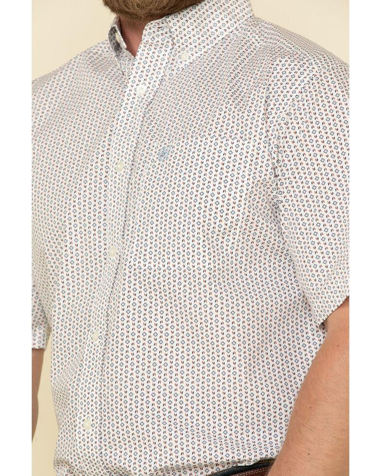 Ariat Men's Jollybrook Aztec Geo Print Long Sleeve Western Shirt - Tall , White, hi-res
