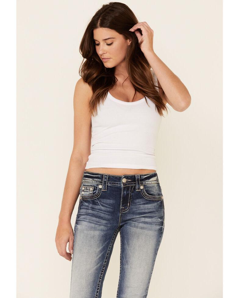 Miss Me Women's Hailey Skinny Jeans, Dark Blue, hi-res
