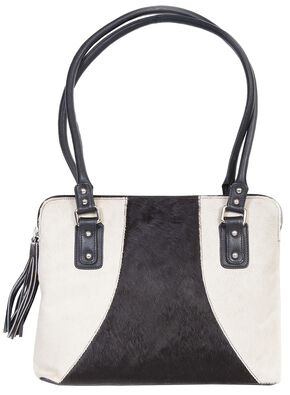 Scully Black & White Hair-on-Hide Shoulder Bag, Animal Prt, hi-res