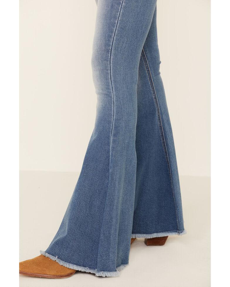 Rock & Roll Denim Women's Blue Bell Bottom Jeans, Blue, hi-res