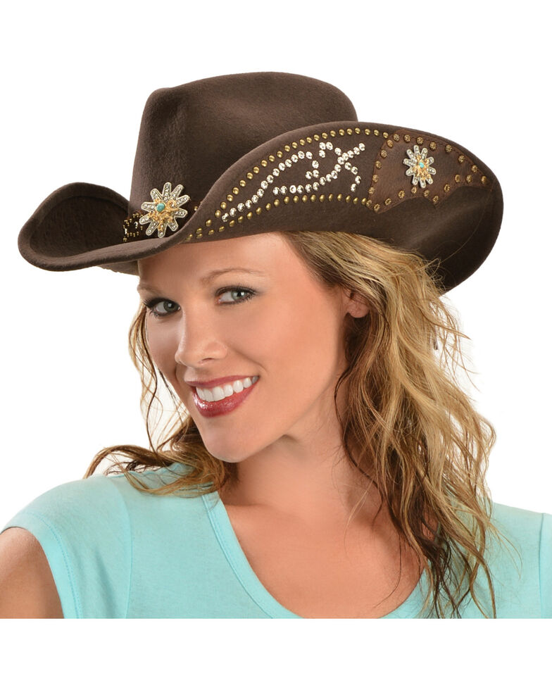 Bullhide Hats Women s Your Everything Embellished Felt Cowgirl Hat ... 0c698b51ccc