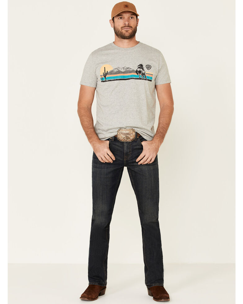 Rock & Roll Denim Men's Grey Scenic Desert Graphic T-Shirt , Grey, hi-res