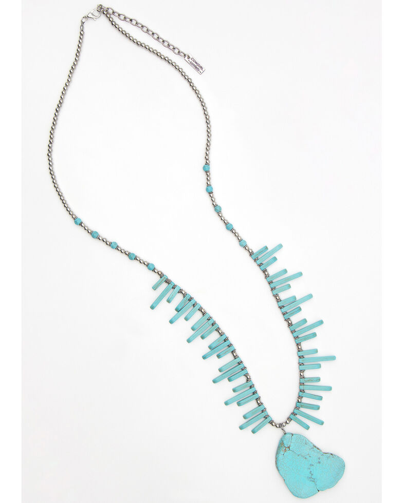 Cowgirl Confetti Women's Light It Up Necklace, Silver, hi-res