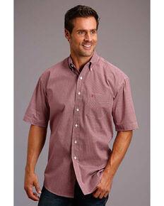 Stetson Men's Coffee Bean Geo Print Long Sleeve Western Shirt , Red, hi-res