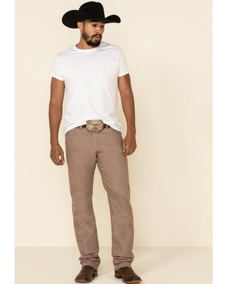 Levi's Men's 501 Original Deep Taupe Stretch Straight Leg Jeans , Taupe, hi-res