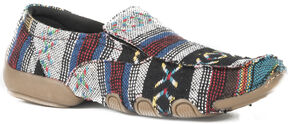 Roper Women's Multi Color Southwest Liza Driving Mocs, Multi, hi-res