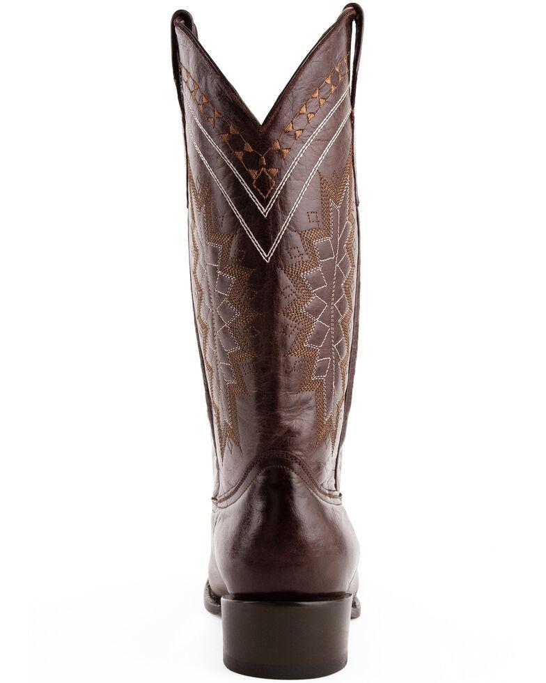 Ferrini Men's Apache Western Boots - Round Toe, Chocolate, hi-res