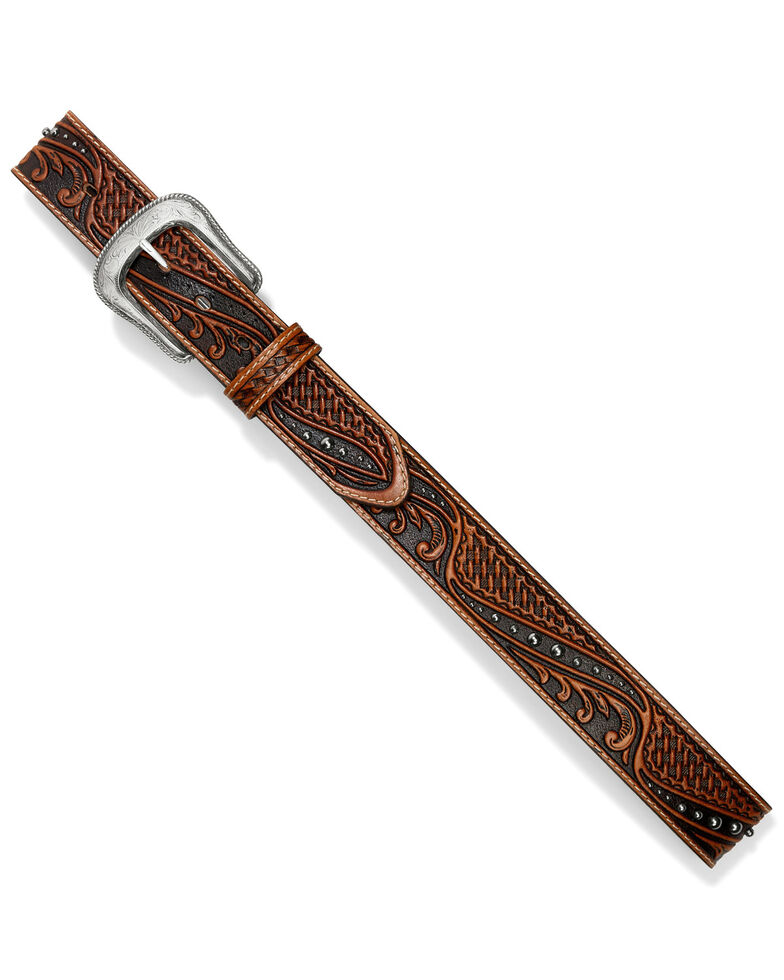 Leegin Men's Colton Western Belt, Tan, hi-res