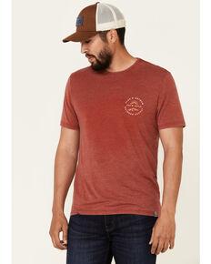 Flag & Anthem Men's Red Mountain Sunrise Graphic Short Sleeve T-Shirt , Red, hi-res