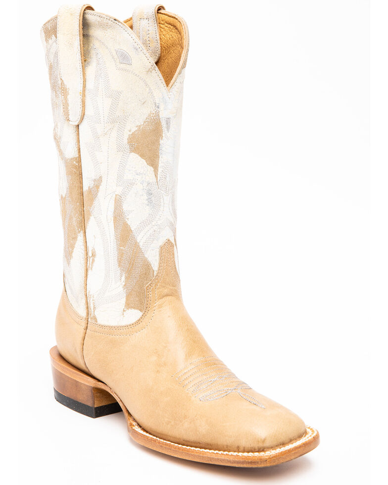Idyllwind Women's Saddle Bum Performance Western Boots - Wide Square Toe, Ivory, hi-res