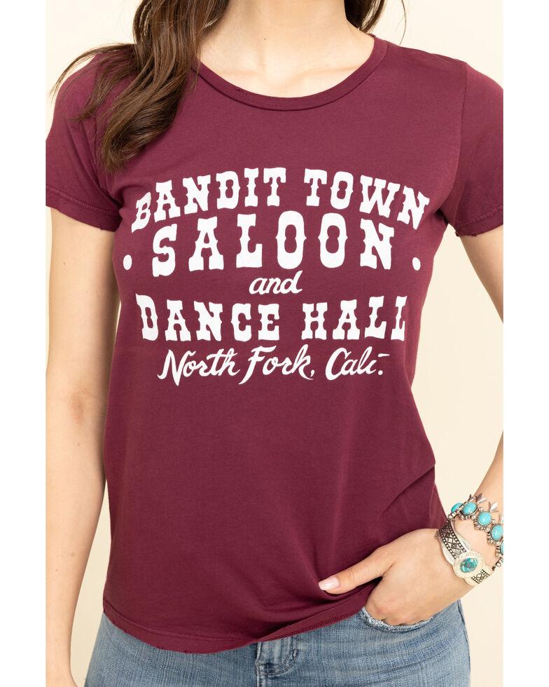 Bandit Brand Women's Burgundy Bandit Town Saloon Graphic Tee, Burgundy, hi-res