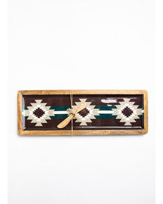 BB Ranch Southwest Wood Enamel Serving Tray, Burgundy, hi-res