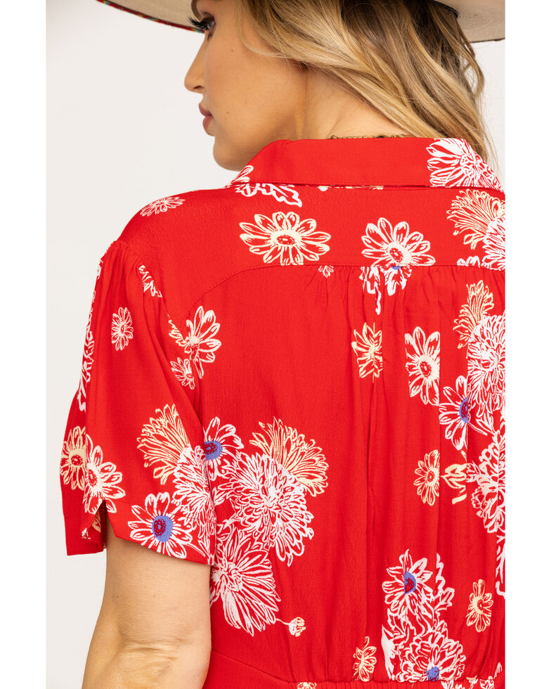 Free People Women's Blue Hawaii Mini Dress, Red, hi-res