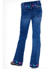 Cowgirl Tuff Girls' Ride Fast Trouser, Blue, hi-res
