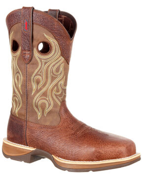 Durango Men's Rebel Waterproof Western Boots - Safety Toe, Brown, hi-res