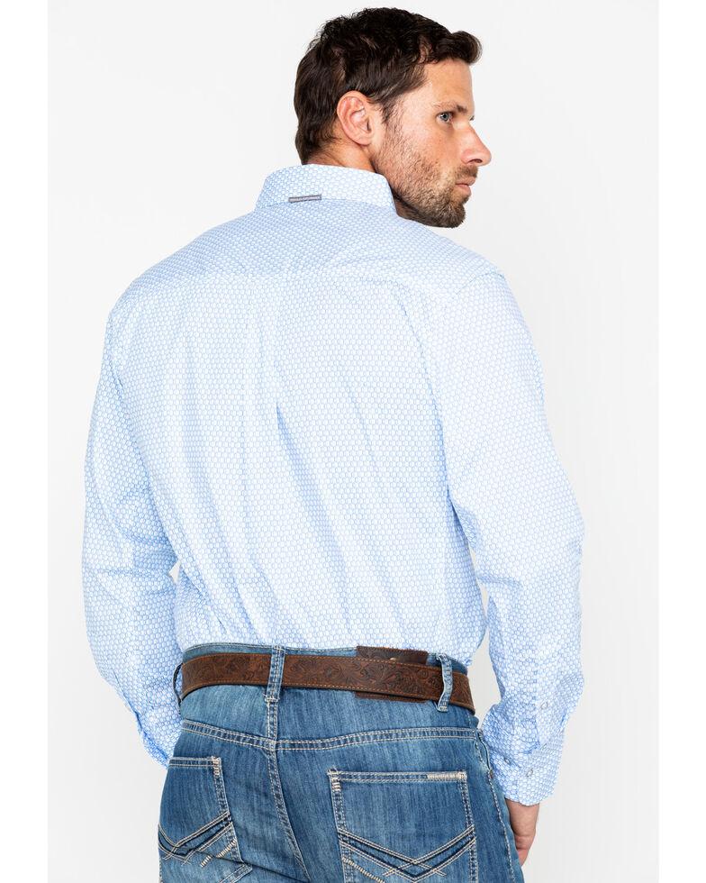 Wrangler 20X Men's Periwinkle Performance Long Sleeve Western Shirt, Periwinkle, hi-res