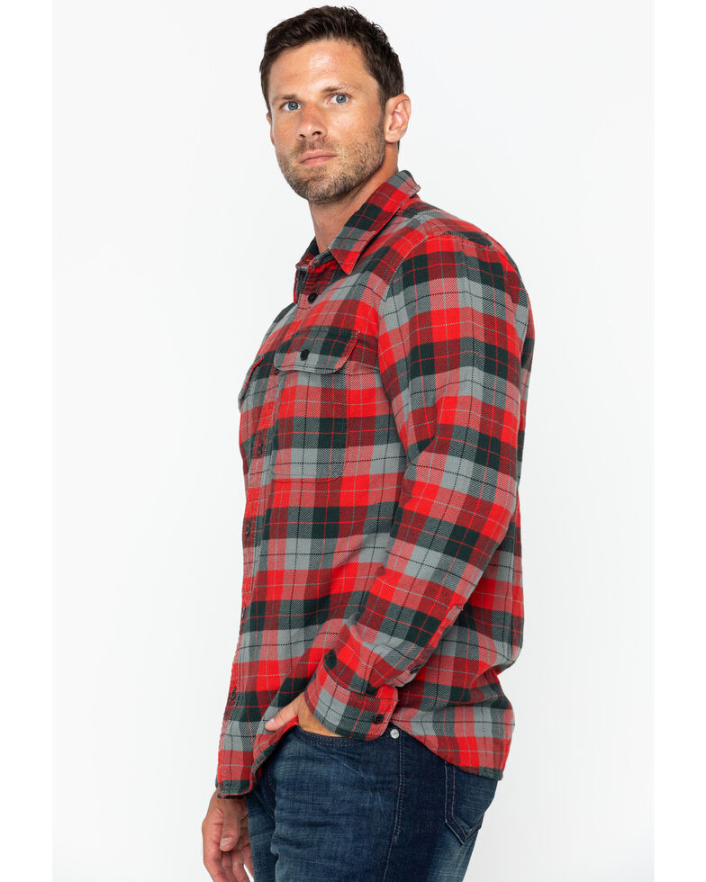 Filson Men's Vintage Flannel Work Shirt , Grey, hi-res