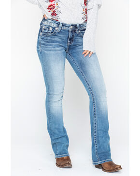 Miss Me Women's Wingpearl Boot Cut Jeans, Blue, hi-res