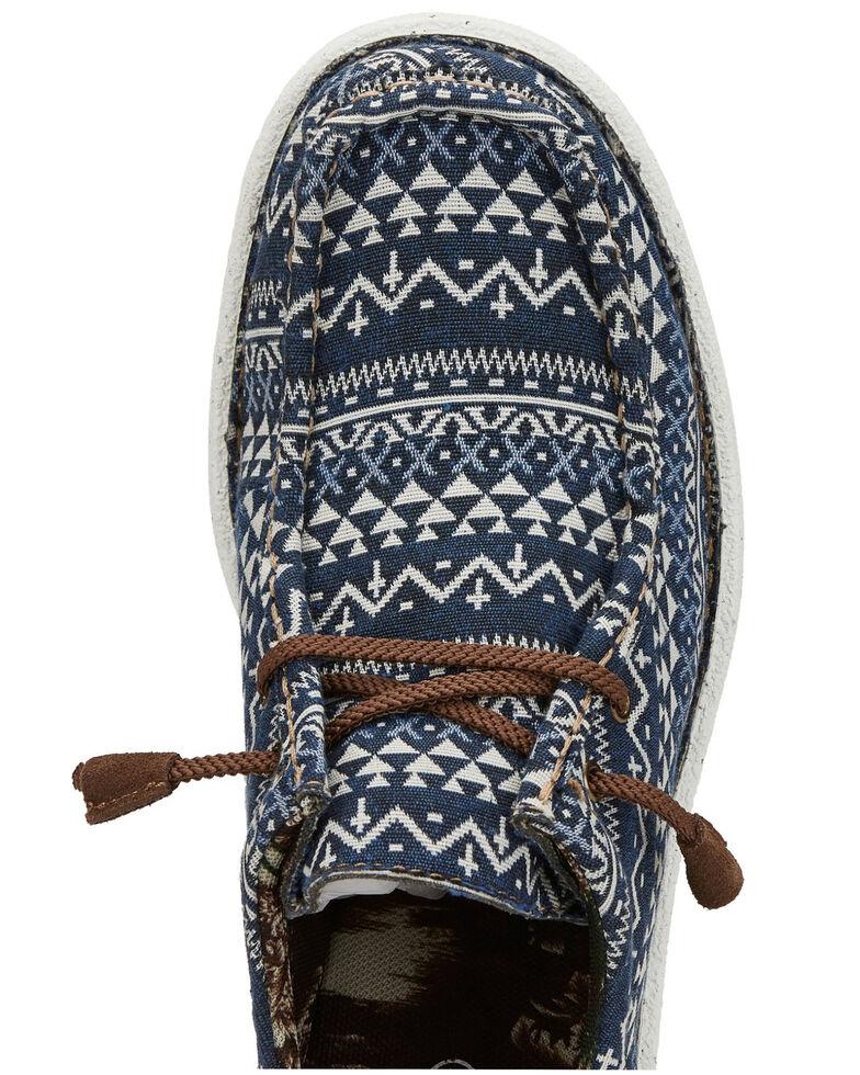 Justin Men's Hazer Navy Cross Shoes, Blue, hi-res