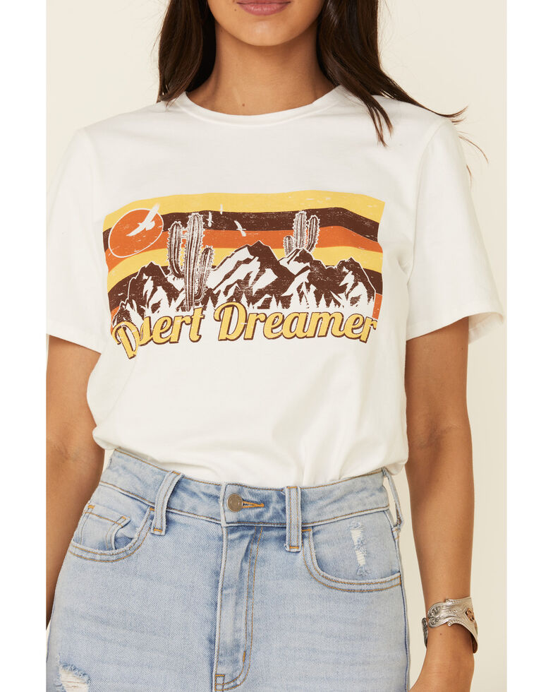 Polagram Women's Desert Dreams Graphic Tee , White, hi-res