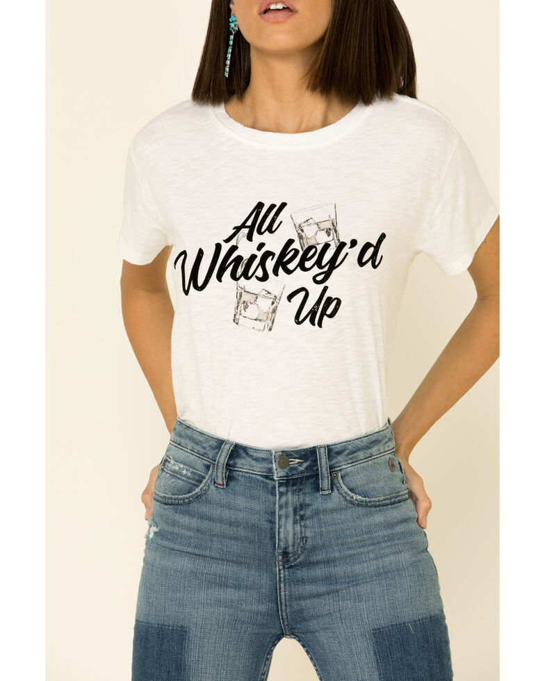 White Crow Women's All Whiskey'd Up Graphic Tee , White, hi-res