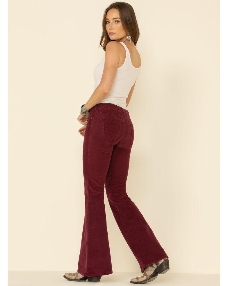 Ariat Women's Wild Berry Corduroy Flare Pants , Red, hi-res