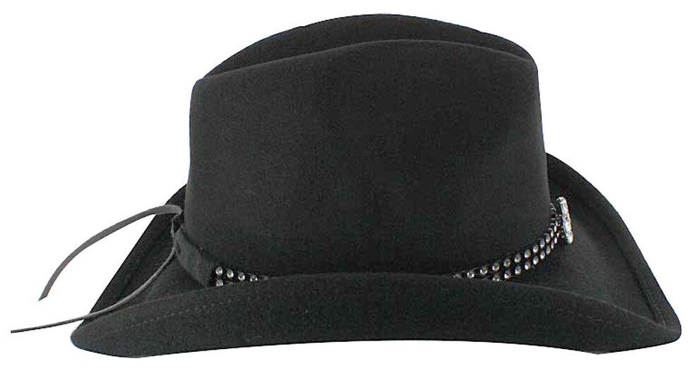 Shyanne Girls' Wool Cowgirl Hat, Black, hi-res