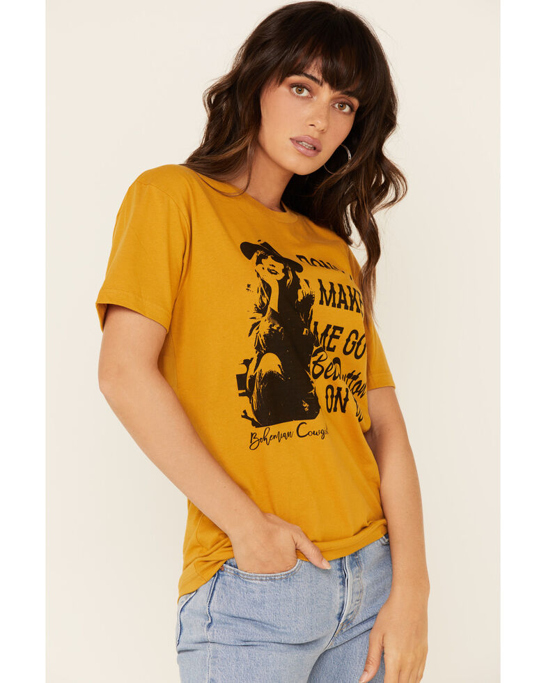 Bohemian Cowgirl Women's Beth Dutton Graphic Tee , Mustard, hi-res