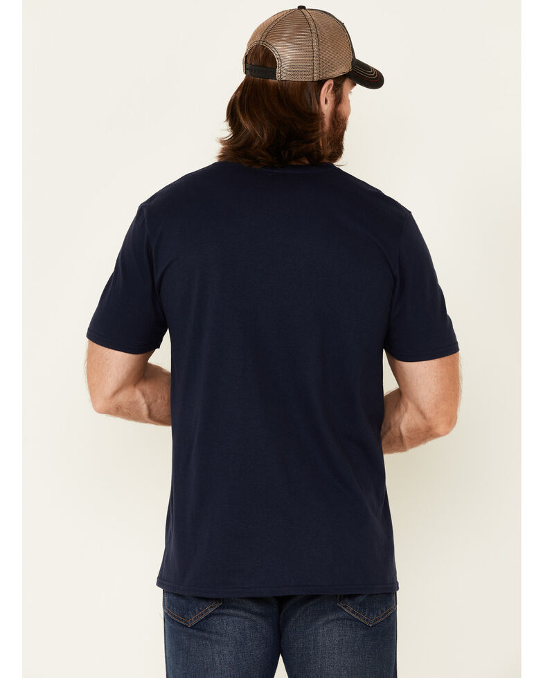Cody James Men's Neon Outlaw Skull Graphic Short Sleeve T-Shirt , Navy, hi-res