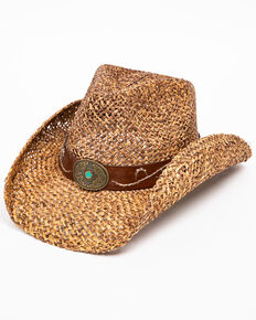 Shyanne Women's Ruth Straw Hat, Brown, hi-res