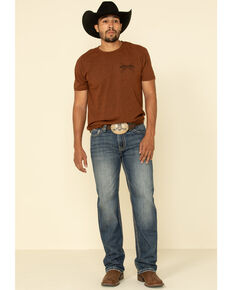 Rock & Roll Cowboy Men's Double Barrel Dark Straight Relaxed Jeans , Blue, hi-res