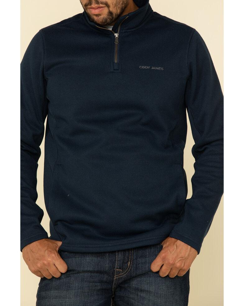 Cody James Men's Navy Lodging Heather Fleece 1/4 Pullover Sweatshirt , Navy, hi-res