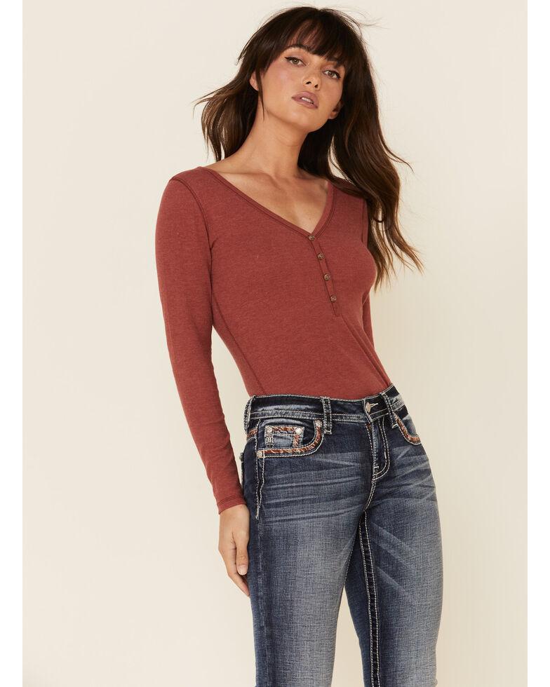 Miss Me Women's Rusty Fleur De Lis Chloe Bootcut Jeans , Blue, hi-res