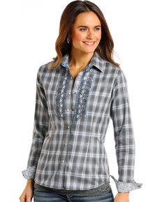 ee191b408dedf Rough Stock by Panhandle Women s Logan Vintage Ombre Plaid Shirt.  56.99. Panhandle  Womens Black Eyelash Vest ...